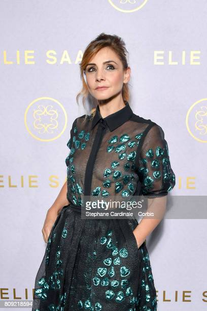 Clotilde Courau attends the Elie Saab Haute Couture Fall/Winter 20172018 show as part of Haute Couture Paris Fashion Week on July 5 2017 in Paris...