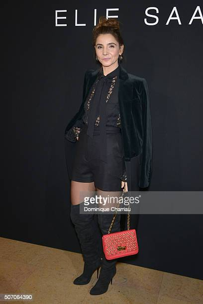 Clotilde Courau attends the Elie Saab Haute Couture Spring Summer 2016 show as part of Paris Fashion Week on January 27 2016 in Paris France