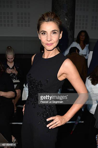 Clotilde Courau attends the Elie Saab show as part of Paris Fashion Week Haute Couture Fall/Winter 20142015 at Pavillon Cambon Capucines on July 9...