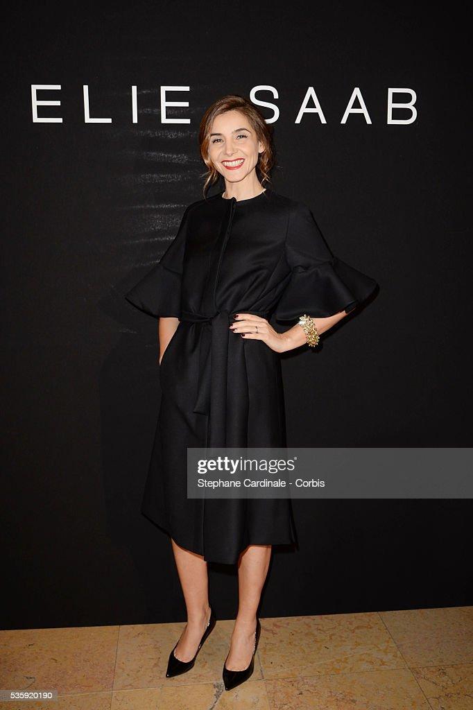 Clotilde Courau attends the Elie Saab show as part of Paris Fashion Week Haute Couture Spring/Summer 2014 , at Theatre National de Chaillot, in Paris.