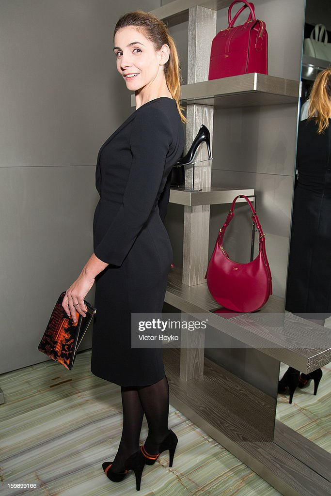 Clotilde Courau attends the Giorgio Armani Paris avenue Montaigne boutique opening on January 22, 2013 in Paris, France.