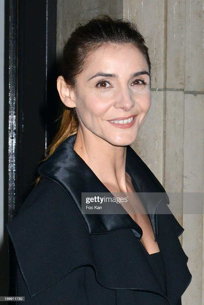 Clotilde Courau attends the Giorgio Armani Prive Spring/Summer 2013 Haute-Couture show as part of Paris Fashion Week at Theatre National de Chaillot on January 22, 2013 in Paris, France.