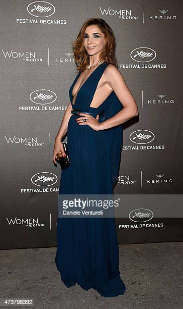 Clotilde Courau attends the Kering Official Cannes Dinner at Place de la Castre on May 17 2015 in Cannes France