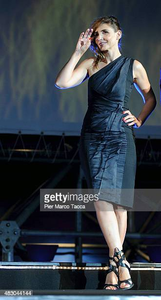 Clotilde Courau attends the Locarno Film Festival opening night during the 68th Locarno Film Festival on August 5 2015 in Locarno Switzerland