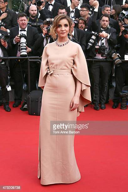 Clotilde Courau attends the opening ceremony and 'La Tete Haute' premiere during the 68th annual Cannes Film Festival on May 13 2015 in Cannes France