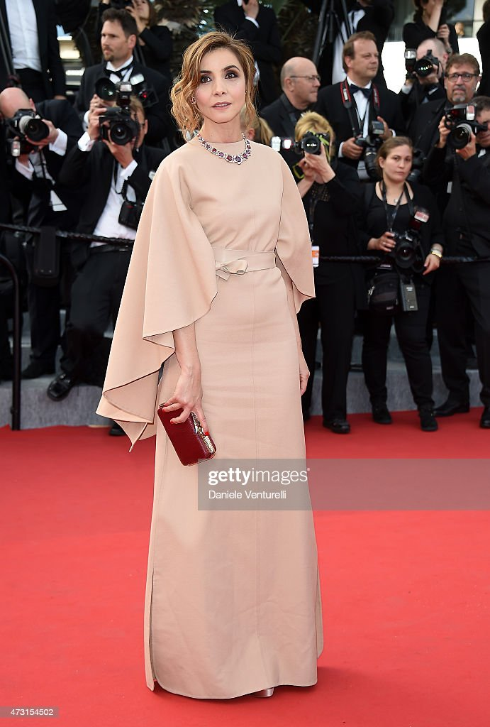Clotilde Courau attends the opening ceremony and premiere of 'La Tete Haute during the 68th annual Cannes Film Festival on May 13 2015 in Cannes...