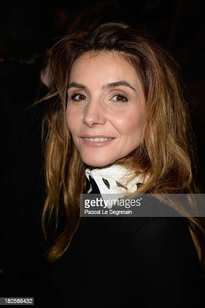 Clotilde Courau attends the Valentino show as part of the Paris Fashion Week Womenswear Spring/Summer 2014 at Espace Ephemere Tuileries on October 1...