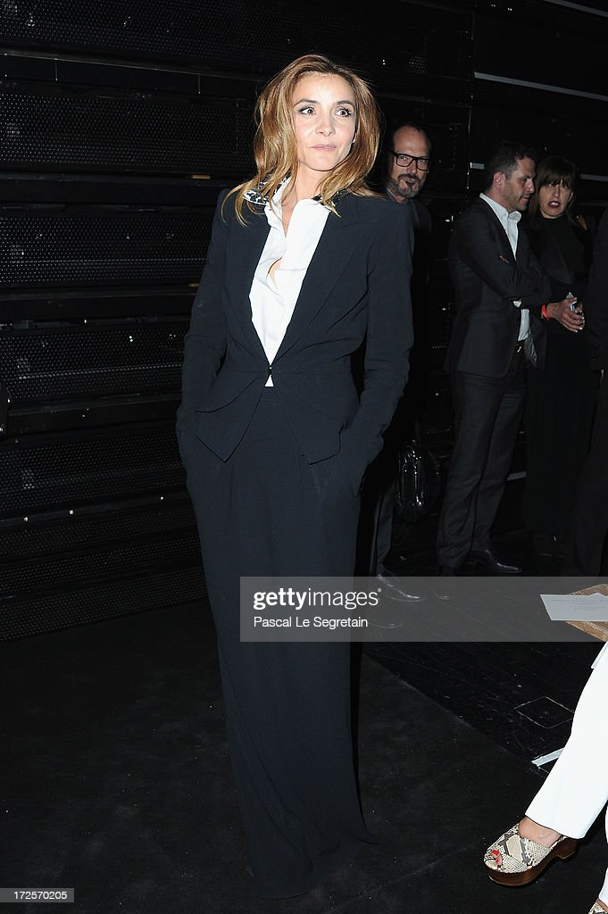 <a gi-track='captionPersonalityLinkClicked' href=/galleries/search?phrase=Clotilde+Courau&family=editorial&specificpeople=171279 ng-click='$event.stopPropagation()'>Clotilde Courau</a> attends the Viktor&Rolf show as part of Paris Fashion Week Haute-Couture Fall/Winter 2013-2014 at La Gaite Lyrique on July 3, 2013 in Paris, France.