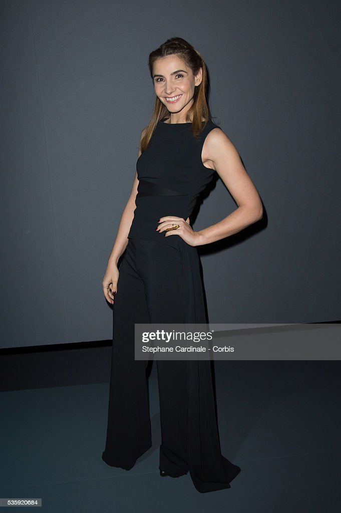 Clotilde Courau attends the Viktor&Rolf show as part of Paris Fashion Week Haute Couture Spring/Summer 2014, in Paris.