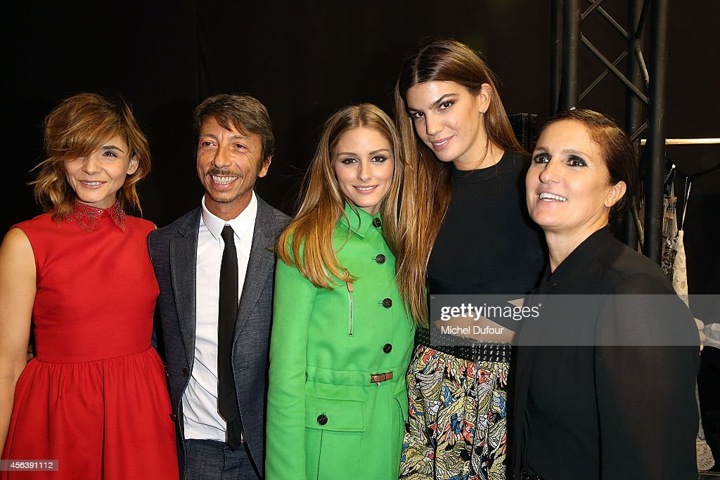 <a gi-track='captionPersonalityLinkClicked' href=/galleries/search?phrase=Clotilde+Courau&family=editorial&specificpeople=171279 ng-click='$event.stopPropagation()'>Clotilde Courau</a>, Pirpaolo Piccioli, Olivia palermo, <a gi-track='captionPersonalityLinkClicked' href=/galleries/search?phrase=Bianca+Brandolini+d%27Adda&family=editorial&specificpeople=5507285 ng-click='$event.stopPropagation()'>Bianca Brandolini d'Adda</a> and <a gi-track='captionPersonalityLinkClicked' href=/galleries/search?phrase=Maria+Grazia+Chiuri&family=editorial&specificpeople=5551257 ng-click='$event.stopPropagation()'>Maria Grazia Chiuri</a> pose backstage after the Valentino show as part of the Paris Fashion Week Womenswear Spring/Summer 2015 on September 30, 2014 in Paris, France.