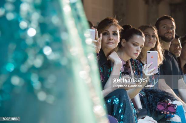 Clotilde Courau Roxane Mesquida and Olivia Palermo attend the Elie Saab Haute Couture Fall/Winter 20172018 show as part of Haute Couture Paris...