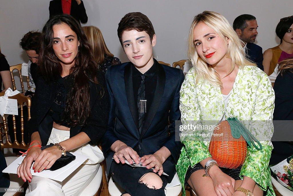 Clotilde de Kerkauson, Harry Brant and Elisabeth von Thurn und Taxis attends the Giambattista Valli show as part of Paris Fashion Week Haute-Couture Fall/Winter 2013-2014 on July 1, 2013 in Paris, France.