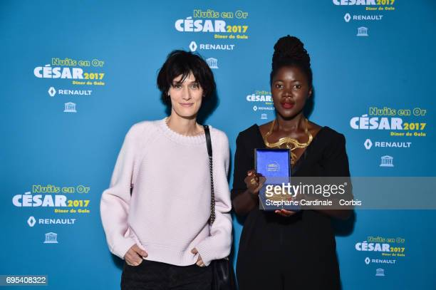 Clotilde Hesme and Alice Diop attend 'Les Nuits en Or 2017' Dinner Gala at Unesco on June 12 2017 in Paris France