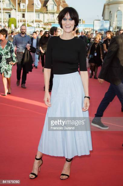 Clotilde Hesme arrives for the screening of the film 'Good Time' during the 43rd Deauville American Film Festival on September 2 2017 in Deauville...