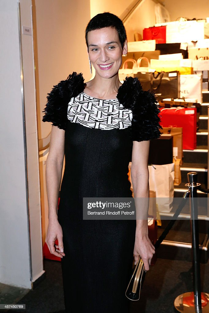<a gi-track='captionPersonalityLinkClicked' href=/galleries/search?phrase=Clotilde+Hesme&family=editorial&specificpeople=2265189 ng-click='$event.stopPropagation()'>Clotilde Hesme</a> (wearing Chanel) attends the Annual Charity Dinner hosted by the AEM Association Children of the World for Rwanda on December 17, 2013. Held at Espace Pierre Cardin in Paris, France.