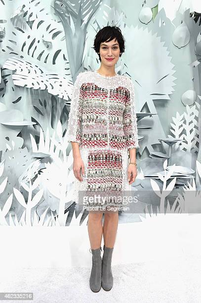 Clotilde Hesme attends the Chanel show as part of Paris Fashion Week Haute Couture Spring/Summer 2015 on January 27 2015 in Paris France