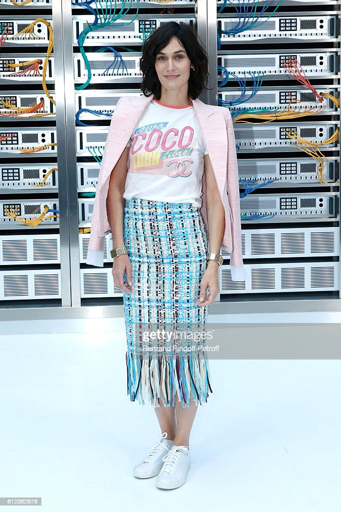 Clotilde Hesme attends the Chanel show as part of the Paris Fashion Week Womenswear Spring/Summer 2017 on October 4, 2016 in Paris, France.