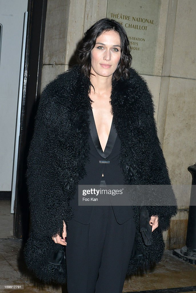 Clotilde Hesme attends the Giorgio Armani Prive Spring/Summer 2013 Haute-Couture show as part of Paris Fashion Week at Theatre National de Chaillot on January 22, 2013 in Paris, France.
