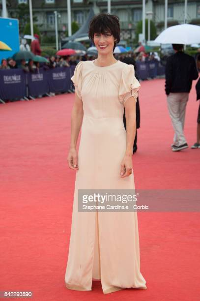 Clotilde Hesme attends the Tribute To 'Jeff Goldblum' And 'Kidnap' Premiere during the 43rd Deauville American Film Festival on September 3 2017 in...