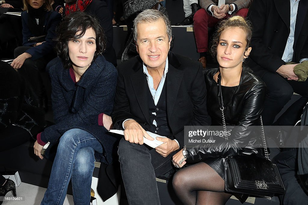 Clotilde Hesme, Mario Testino and Alice Dellal attend the Chanel Fall/Winter 2013 Ready-to-Wear show as part of Paris Fashion Week at Grand Palais on March 5, 2013 in Paris, France.