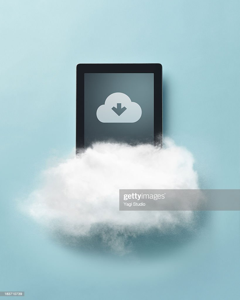 Cloud and digital tablet