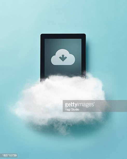 Cloud and digital tablet