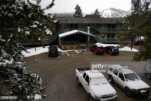 Cloud Cap condo complex with a view of the Breckenridge Ski Resort in the background April 26 2017 in Breckenridge Colorado Resident Jennifer...