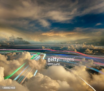 Cloud Computing And Wireless Communications : Stock Photo