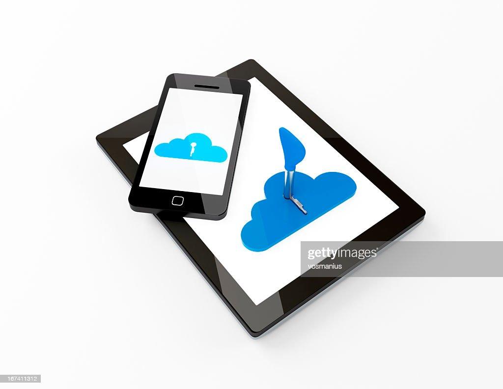 cloud computing concept : Bildbanksbilder