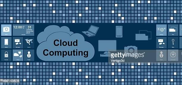 Cloud computing digital background