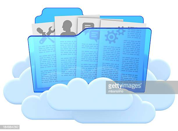Cloud computing folder & files concept
