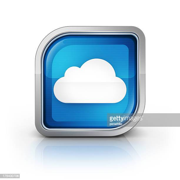 cloud computing glänzende Symbol
