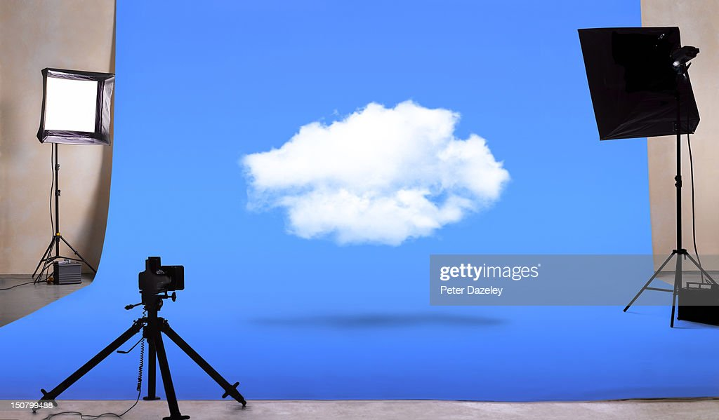 Cloud computing in photography studio : Stock Photo