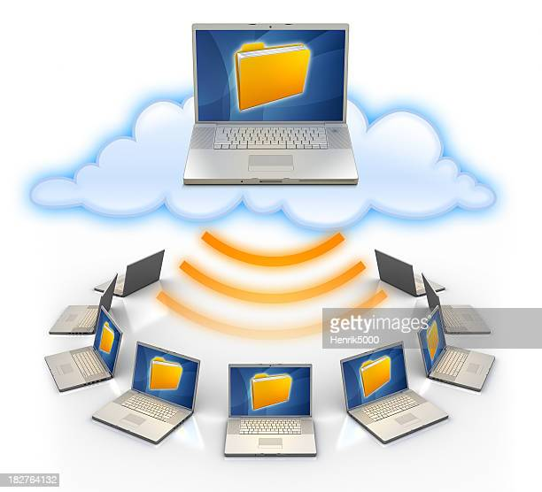 Cloud computing - isolated on white
