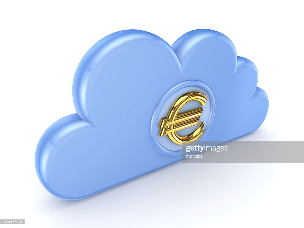 Cloud computing symbol. : Stock Photo
