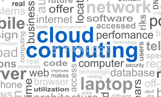 cloud computing typographic template background stock photo thinkstock