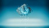 Cloud computing with raining machine code.