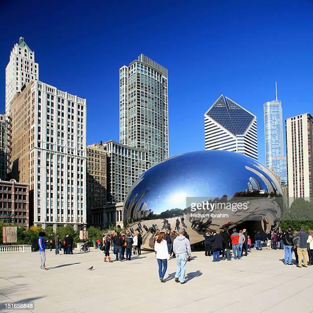 Cloud Gate and Millennium Park, Chicago, IL, USA