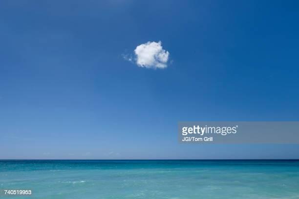 Cloud in blue sky over ocean