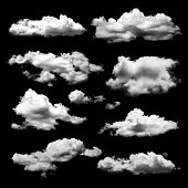 Shape of cloud for design material isolated on black background