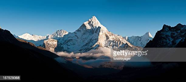 Cloud mountain peak white summit panorama Ama Dablam Himalayas Nepal