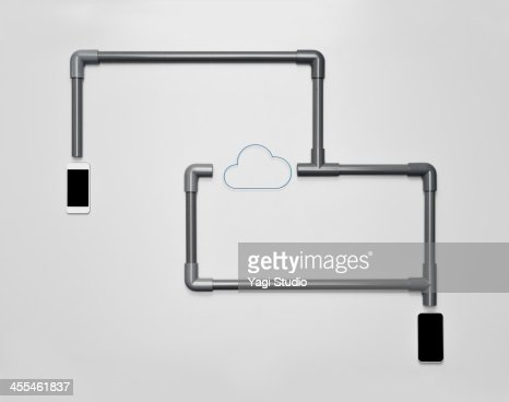 Cloud Network and Smartphone : Stock Photo