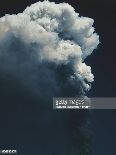 Cloud Of Volcanic Ash Against Dark Sky