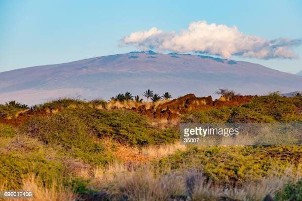 cloud over mauna kea volcano hawaii