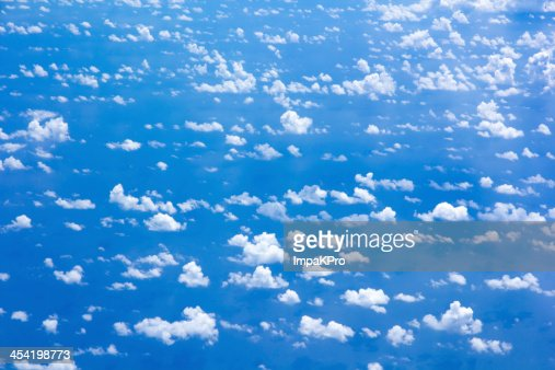 cloud scatter on blue sky : Stock Photo