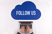 Cloud technology with a word FOLLOW US