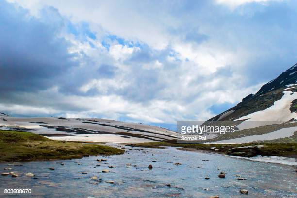 Cloud, Water and Snow at Rohtang Pass, India