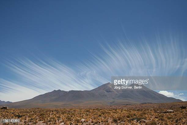 Clouds above Andes mountains