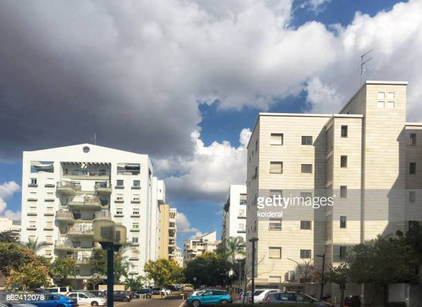 Clouds above residential buildings