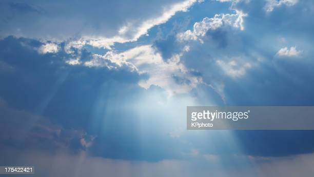 clouds and a ray of light from the heavens